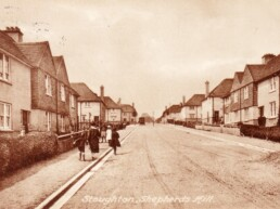 The building of Shepherds Hill, Stoughton, Guildford.